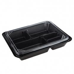 ชุดกล่องเบนโตะ 5 ช่อง Extra Large วัสดุ PP+PS (25 ชุด)