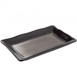 "Karaake Rectangular Plate 8.25 Inches ""Kuromaru"""