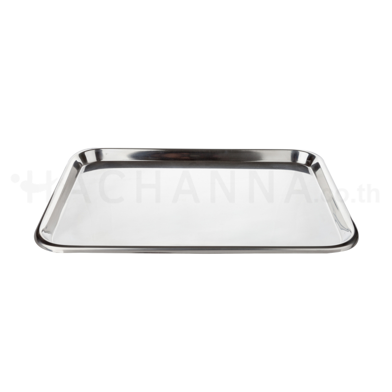 Shallow stainless tray