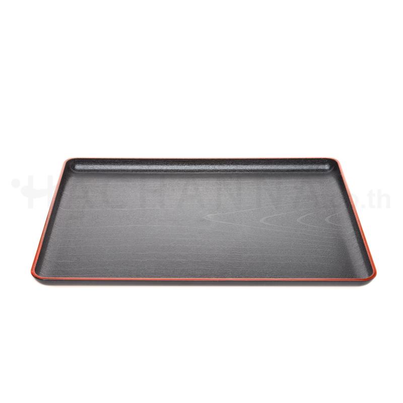 Red Border Black Tray