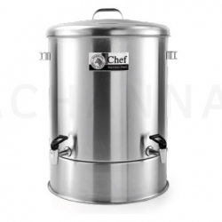 Stainless Dispenser 45 cm Double tap (68 Liter)(Chef)