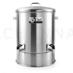 Stainless Dispenser 50 cm Double tap (94 Liter)(Chef)