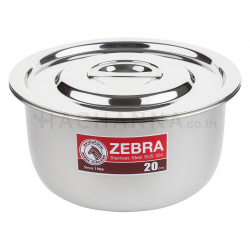 Zebra stainless steel Indian pot 22 cm (18-8)
