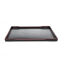 Rectangular Striped Black Tray 36x27 cm