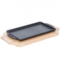 Cast Iron Steak Pan Rectangular 25cm