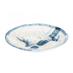 Blue Bamboo Round Dish 5.25 inches
