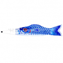 Blue Carp Fish Decoration 75x21 cm