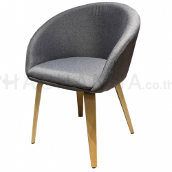 Gray linen chair