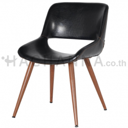 Black PU leather chair