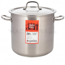 Pujadas Stainless stock pot 28 cm
