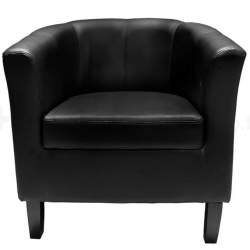 Black PU Leather Sofa