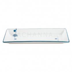 """Blue Sakura Makisushi Plate 11"""""""